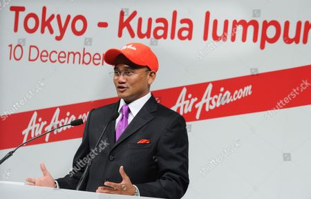 Azran Osman-rani Chief Executive Officer of Airasia X Introduces the Low-cost Air Carrier's New Business Plans For Flights to Japan During a Press Conference in Tokyo Japan 10 December 2010 the Low-cost Long-haul Airline Began Flights Between Asia and Japan on 09 December 2010 Japan Tokyo