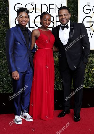 Nathan Anderson, Kyra Anderson and Anthony Anderson
