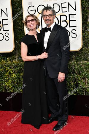 Stock Image of Katherine Borowitz and John Turturro