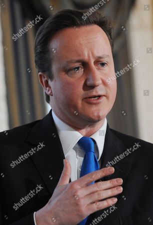 The Leader of Britain's Opposition Conservative Party David Cameron Speaks During a Press Conference in London March 23 2010 Cameron Has Said the 'Scandals' Besetting Labour Are 'Worse' Than Those Which Afflicted the Conservative Government of the Mid-1990s He Called For a Full Government Inquiry Into the Apparent Willingness of Geoff Hoon Stephen Byers and Patricia Hewitt to Help a Lobbying Firm For Cash United Kingdom London