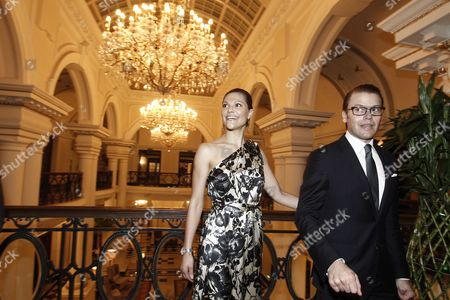 Crown Princess Victoria (l) of Sweden and Prince Daniel Westling (r) Arrive to the Shanghai Waldorf Astoria Hotel in Shanghai China 14 October 2010 the Swedish Royals Are in Shanghai to Attend the Sino-swedish Symbiocare Forum at the World Expo China Shangai