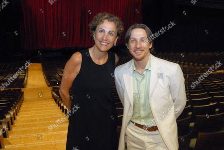 Stock Picture of Theatre owner Vanessa Adam and  Joey McKneely