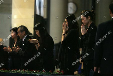 Hundreds of Friends and Acquaintances From Japanese Fashion and Entertainment World Gather to Bid Farewell to Japan's First Supermodel Sayoko Yamaguchi During a Memorial Ceremony at Tokyo's Honganji Temple 19 September 2007 Ex-supermodel Sayoko Yamaguchi Died Earlier This Month Allegedly From Suicide According to Friend's Close to the Ex-model Yamaguchi was Japan's First Model to Appear at the Paris Fashion Week in 1972 She Went on to Model For Major Designers Such As Kenzo Takada Issei Miyake and Kansai Yamamoto in 1977 Newsweek Magazine Named Yamaguchi As One of the Top Six Models in the World Wednesday Would Have Been Her 58th Birthday Japan Tokyo