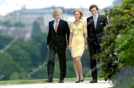 Prince Joachim, Princess Maria Laura and Prince Amedeo, children of Princess Astrid and Prince Lorenz