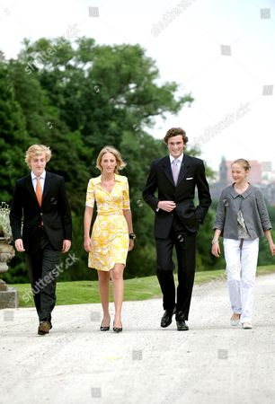 Prince Joachim, Princess Maria Laura, Prince Amedeo and Princess Luisa Maria