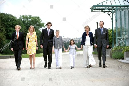 Prince Joachim, Princess Maria Laura , Prince Amedeo, Princess Luisa Maria, Princess Laetitia Maria, Princess Astrid and Prince Lorenz