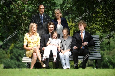 Prince Lorenz and Princess Astrid and their children Princess Maria Laura, Prince Amedeo, Princess Laetitia Maria, Princess Luisa Maria, Prince Joachim