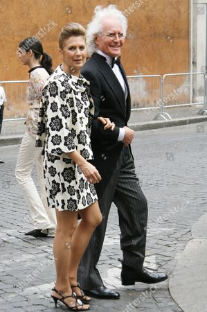 Luciano Benetton and wife