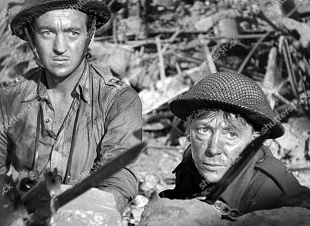 'The Way Ahead'   Film David Niven (left) with Leslie Dwyer