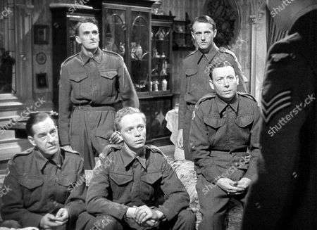 'The Way Ahead'   Film L-R.Stanley Holloway, John Laurie, Jimmy Hanley, Hugh Burden and Leslie Dwyer