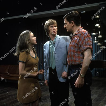 'Love Story' A Man Alone Aka the Bodyguard - TV - 1968 - Dennis Waterman as James, T. P. McKenna as Ernest and Philippa Gail as Charlotte.