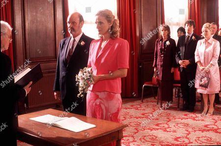 'Bob & Rose' TV - 2001 -  Trevor (Dave Hill) and Carol (Barbara Marten) get married.