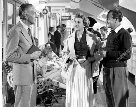 'Trio'   Film  Mr.Knowall. Mr & Mrs Ramsay (Naunton Wayne and Anne Crawford) Chat with  Mr.Grey (Wilfed Hyde White) Aboard the Liner.