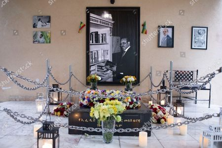 Stock Photo of Grave of Meles Zenawi, Prime Minister of Ethiopia from 1995 until his death in 2012