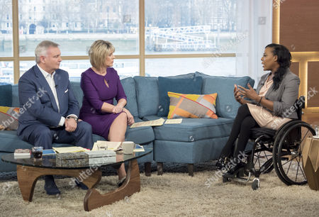 Stock Photo of Eamonn Holmes and Ruth Langsford with Anne Wafula-Strike