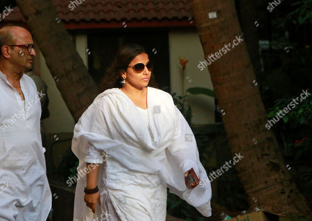 Bollywood actress Vidya Balan arrives to pay her final respects to noted Indian character actor Om Puri in Mumbai, India, . In a career spanning more than three decades, Puri had won a slew of national awards and international fame for his work in several critically acclaimed films. He was made an honorary officer of the Order of the British Empire for his contribution to British cinema in 2004