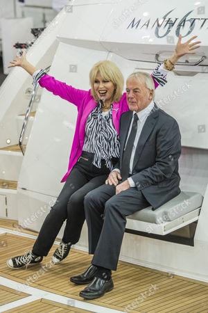 Joanna Lumley and Robert Braithwaite, founder of Sunseeker