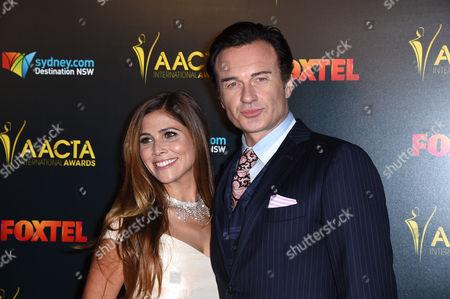 Stock Image of Julian McMahon and Kelly Paniagua