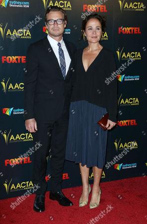 Stock Photo of Rebecca Rigg and Simon Baker