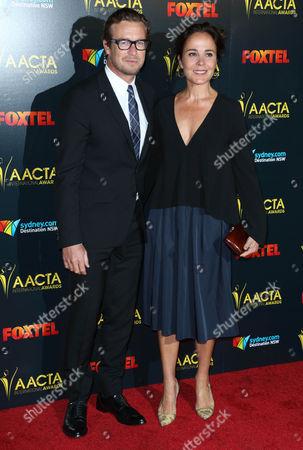 Stock Picture of Rebecca Rigg and Simon Baker