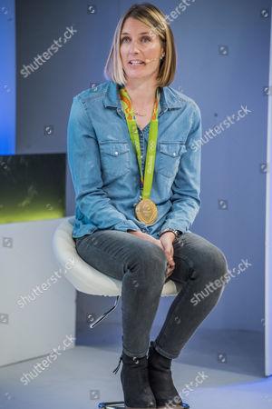 Stock Image of Saskia Clark, Rio Olympic Gold Medalist, 470 Class