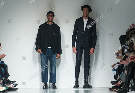 Stock Photo of Joe Casely-Hayford and Charlie Casely-Hayford on the catwalk