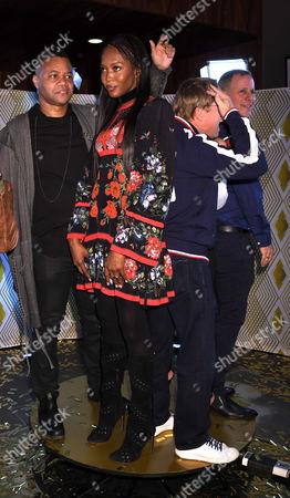 L-R: Cuba Gooding Jr, Naomi Campbell, Bart Conner