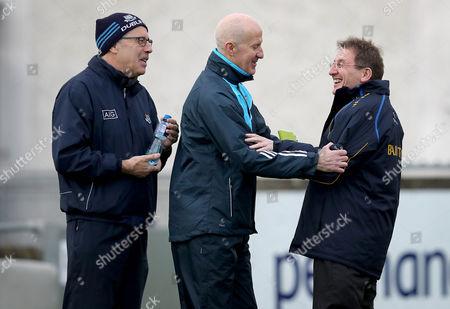 Dublin vs DCU. Dublin Manager Paul Clarke with DCU Manager Niall Moyna