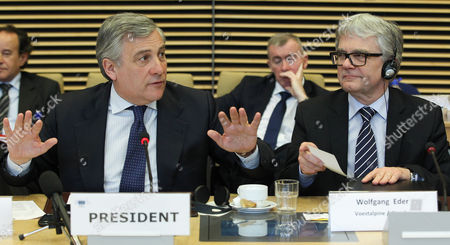 Editorial photo of Belgium Eu Steel Industry Meeting - Feb 2013