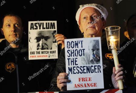 Editorial photo of Britain Julian Assange Embassy Speech - Dec 2012
