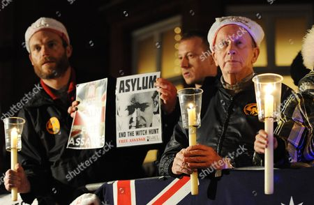 Supporters of Wikileaks Founder Julian Assange Wait For Him to Deliver a Speech From a Balcony of the Ecuadorean Embassy in London Britain 20 December 2012 Assange who Has Sought Refuge in the Ecuadorian Embassy in London is Suffering From a Serious Lung Condition Reports Said 20 December 2012 an Ecuadorian Newspaper Quoted the Country's Ambassador to Britain Ana Alban As Saying That She Would Ask the British Government to Grant Assange Safe Passage to Leave the Embassy For Medical Treatment She Said Assange Required Constant Medical Attention at the Embassy where He Fled in June to Avoid Extradition to Sweden on Sexual Assault Allegations Made by Two Women United Kingdom London