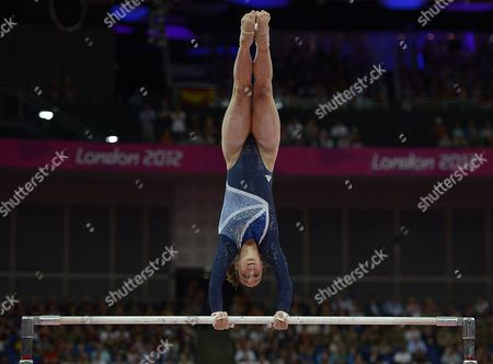Britain's Elizabeth Tweddle in Action to Place Third in the Women's Uneven Bars Final During the London 2012 Olympic Games Artistic Gymnastics Competition London Britain 06 August 2012 United Kingdom London