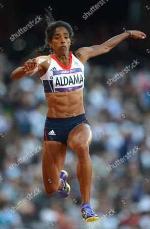 Yamile Aldama of Great Britain Competes in the Women's Triple Jump Final During the London 2012 Olympic Games Athletics Track and Field Events at the Olympic Stadium London Britain 05 August 2012 United Kingdom London