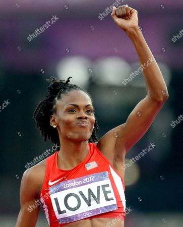 Chaunte Lowe of the Usa React in the Women's High Jump Final at the London 2012 Olympic Games Athletics Track and Field Events at the Olympic Stadium London Britain 11 August 2012 United Kingdom London