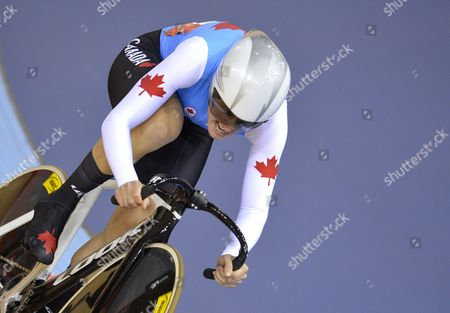 Tara Whitten of Canada Competes During Women's Omnium Flying Lap Race at the London 2012 Olympic Games Track Cycling Competition London Britain 06 August 2012 United Kingdom London