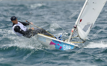 Britain's Paul Goodison Competes During the Laser Radial Class Competition at the London 2012 Olympic Games Sailing Competition in Weymouth Britain 04 August 2012 United Kingdom Weymouth