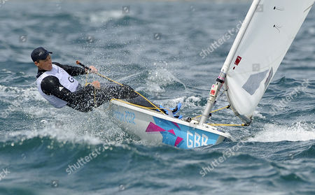 Britain's Paul Goodison During the Mens Laser at the London 2012 Olympic Games Sailing Competition in Weymouth Britain 04 August 2012 United Kingdom Weymouth