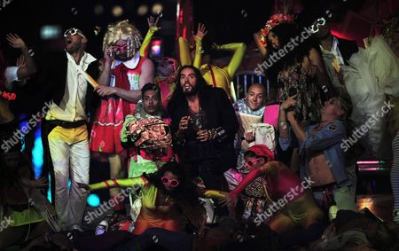 British Performer Russel Brand (c) During the Closing Ceremony of the London 2012 Olympic Games London Britain 12 August 2012 United Kingdom London