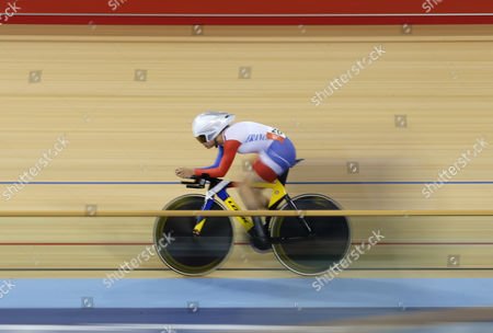 Clara Sanchez of France Competes in the Women's Omnium 3km Individual Pursuit Race During the London 2012 Olympic Games Track Cycling Competition London Britain 07 August 2012 United Kingdom London