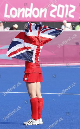 Great Britain's Emily Maguire Celebrates After Winning the London 2012 Olympic Games Women's Hockey Bronze Medal Match at the Riverbank Arena London Great Britain 10 August 2012 United Kingdom London
