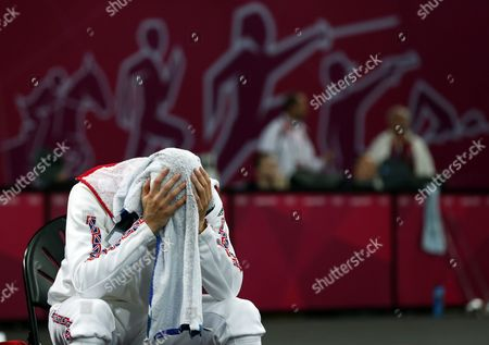 Great Britain's Nicholas Woodbridge Reacts During the Fencing Matches of the London 2012 Olympic Games Modern Pentathlon Competition London Britain 11 August 2012 United Kingdom London