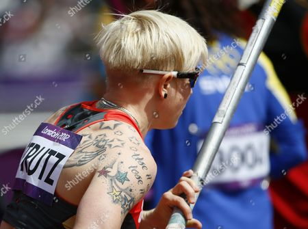 Martina Strutz of Germany During the Pole Vault Qualification During the London 2012 Olympic Games Athletics Track and Field Events at the Olympic Stadium London Britain 04 August 2012 United Kingdom London