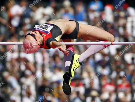 Ariane Friedrich of Germany Competes in the Women's High Jump Qualification at the London 2012 Olympic Games Athletics Track and Field Events at the Olympic Stadium London Britain 09 August 2012 United Kingdom London