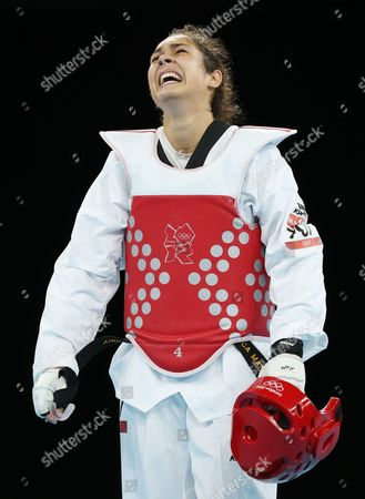 Milica Mandic of Serbia Celebrates Her Win Over Anne-caroline Graffe of France in the Women's +67kg Gold Medal Final Taekwondo at the Excel Centre in the London 2012 Olympic Games 11 August 2012 United Kingdom London
