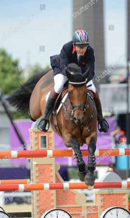 Peter Charles of Great Britain Riding 'Vindicat' Competes in the Equestrian Team Jumping During the London 2012 Olympic Games Equestrian Jumping Competition in Greenwich Park South East London Britain 06 August 2012 British Team Won the Gold Medal in the Competition United Kingdom London