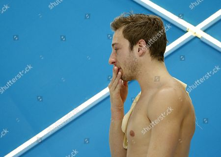 Matthew Mitcham of Australia Cries After Failing to Qualify For the Final in the Men's 10m Platform Semifinal During the Diving Competition Held at the Aquatics Center During the London 2012 Olympic Games in London Great Britain 11 August 2012 United Kingdom London
