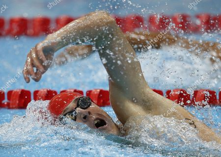 Nicholas Woodbridge of Great Britain Competes in the Men's 200m Freestyle During the Swimming Session in the Modern Pentathlon Competition Held at the Aquatics Center During the London 2012 Olympic Games in London Great Britain 11 August 2012 United Kingdom London