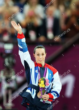 Britain's Elizabeth Tweddle Celebrates the Bronze Medal in the Uneven Bars at the London 2012 Olympic Games Artistic Gymnastics Competition London Britain 06 August 2012 United Kingdom London