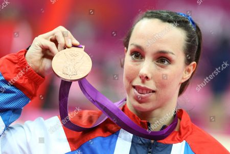Stock Picture of Britain's Elizabeth Tweddle Wins Bronze in the Women's Uneven Bars Final During the London 2012 Olympic Games Artistic Gymnastics Competition London Britain 06 August 2012 United Kingdom London