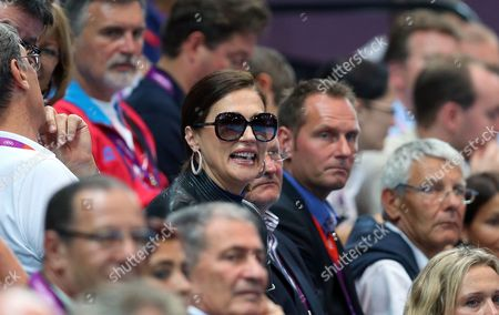 Former Wife of Formula One Boss Bernie Ecclestone Slavica Ecclestone Attends the Group Handball Match Between Croatia and Denmark at the London 2012 Olympics Games in London Britain 04 August 2012 United Kingdom London